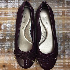 Karen Scott Rylee Purple Cap-toe Flats NWT Sz 7.5